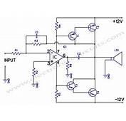 Circuits &gt 12W Amplifier Using 741 Op Amp L41487  Nextgr