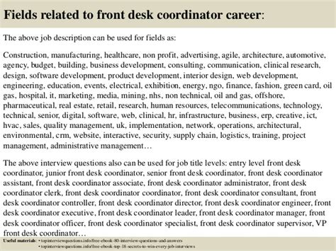 front desk interview questions top 10 front desk coordinator interview questions and answers