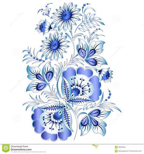 fiori in russia modello floreale nazionale russo nello stile gzhel fiori