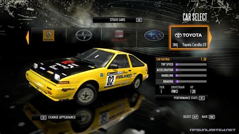 Shift 2 Auto Tuning by Need For Speed Shift Car List Nfsunlimited Net Need For