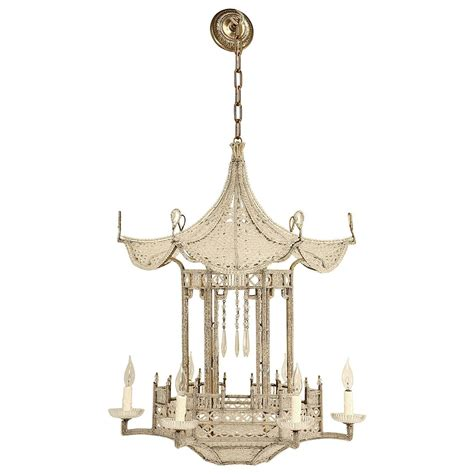 Pagoda Chandelier Pagoda Chandelier From Circa 1940s In The Style Of Bagues For Sale At 1stdibs