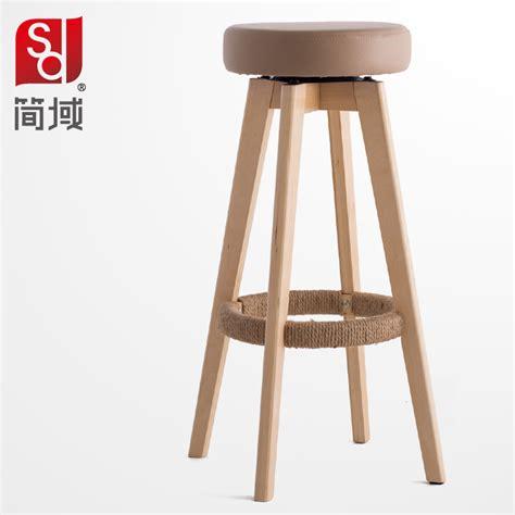 simple bar chairs wood bar chairs high foot stool simple fashion bar stool