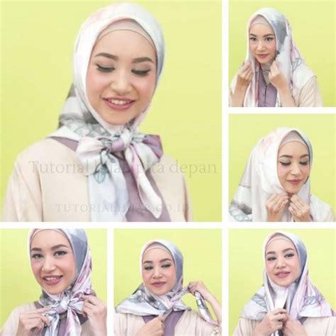 tutorial jilbab pita 5 update tutorial hijab pita depan model ikat di dada