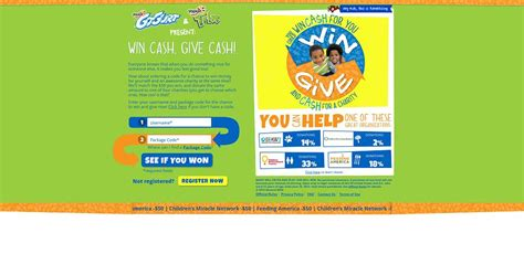 Instant Win Cash Sweepstakes - winandgive org win cash give cash instant win game