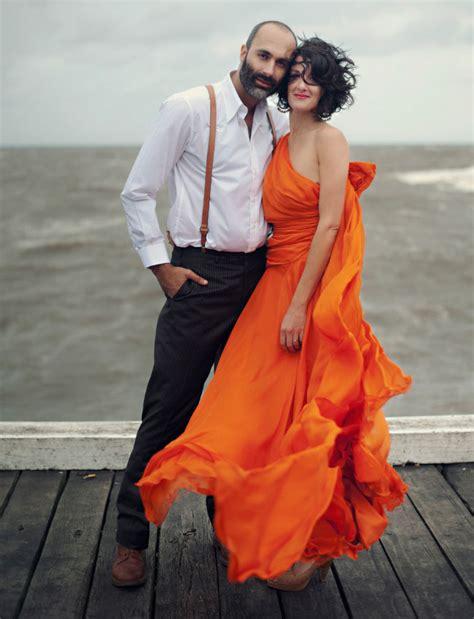 An Orange Wedding Dress: Kirsty   Matt   Green Wedding