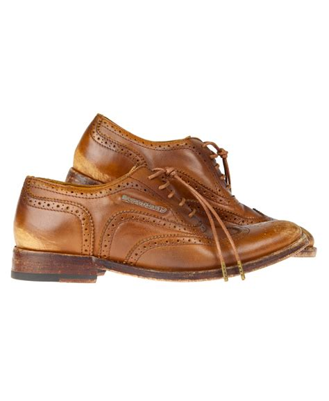 new womens superdry premium brogue shoes leather brown