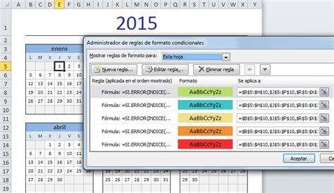 Calendario Por Semanas 2015 Excel Calendario 2015 En Excel Excel Total