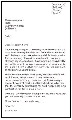 How To Ask For Salary Increase Sle Letter