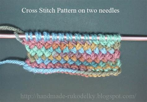 how to knit with 2 circular needles made rukodelky cross stitch knitted on circular