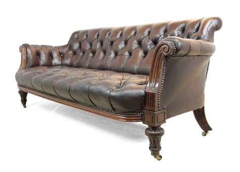 Buttoned Leather Sofa Antique Buttoned Leather Sofa Circa 1880 At 1stdibs