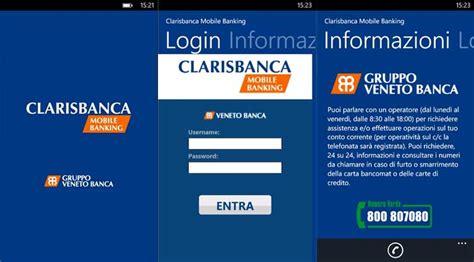 veneto clarisbanca clarisbanca mobile banking l app ufficiale per i clienti