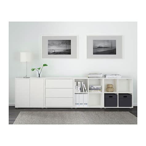 besta und eket eket cabinet combination with white 280x35x72 cm ikea