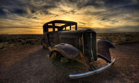 abandoned car alongside route 66, Danie Collins   Pixdaus