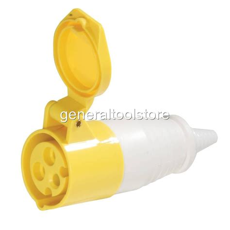 110 volt wire connectors 32 110v 110 volt yellow plugs splitters and sockets