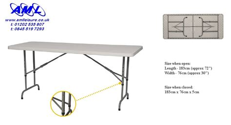 6 ft adjustable height table 6ft solid topped fold flat trestle table commercial quality