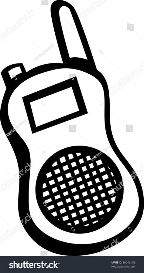 mobile walkie talkie mobile walkietalkie 2way radio stock illustration 29046103