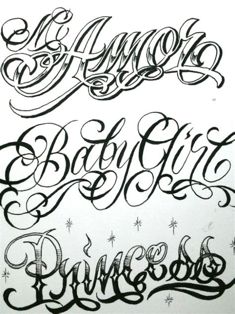 tattoo fonts with stars boog flash pictures typography
