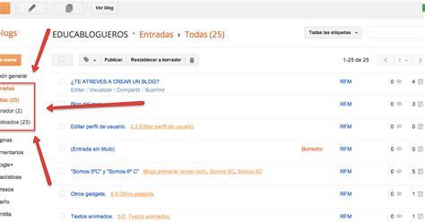 tutorial editar blogger tutorial de blogger educablogueros menu del blog