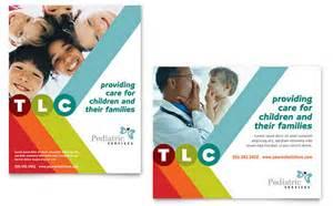 pediatrician amp child care poster template design