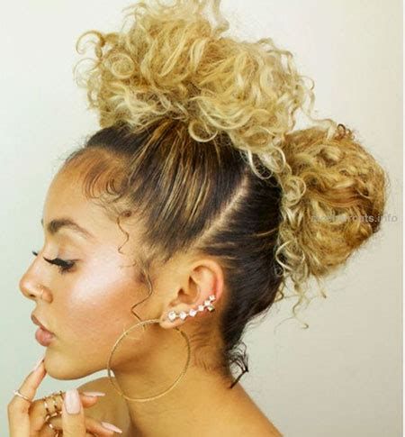 updo hairstyles for short curly hair | the best short
