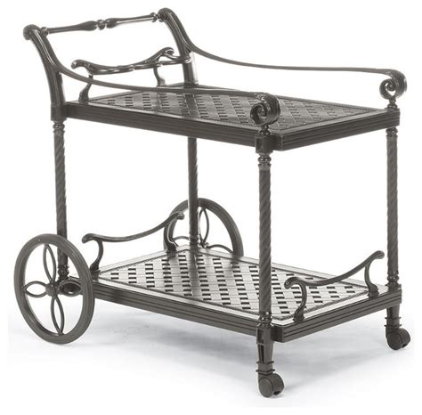 houzz bar cart carlisle serving cart in gray finish traditional bar