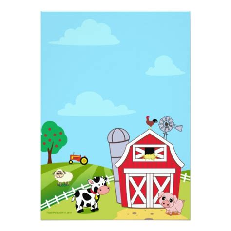printable farm animal birthday invitations farm animals baby shower invitations zazzle