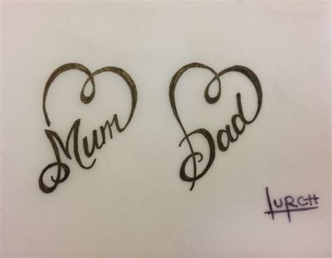 small mom and dad tattoos small feminine design forever