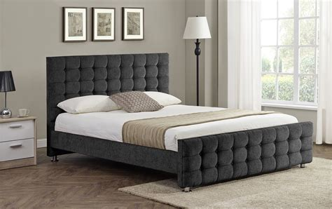 boston bed boston buttoned detail charcoal bed frame sensation