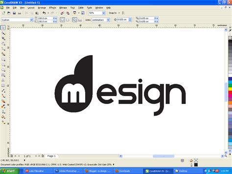 Software Design Huruf | tutorial coreldraw membuat logo