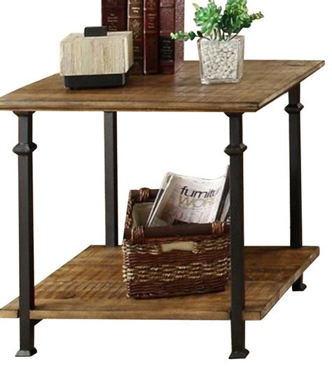 wrought iron end tables living room homelegance factory rectangular end table with wrought