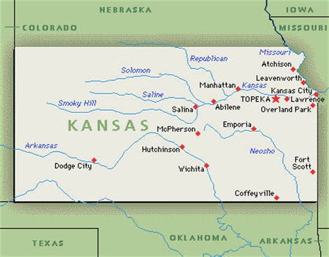 State Map Of Kansas by State Of Kansas