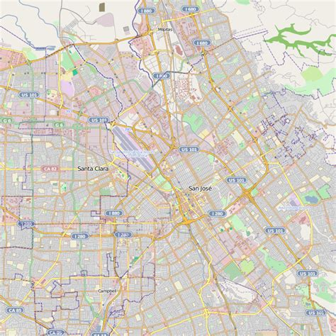 san jose on map san jose map ca free printable maps