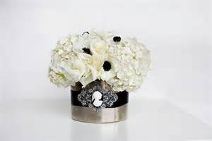 black and white flower centerpieces black and white centerpiece 171 bollea floral design gallery