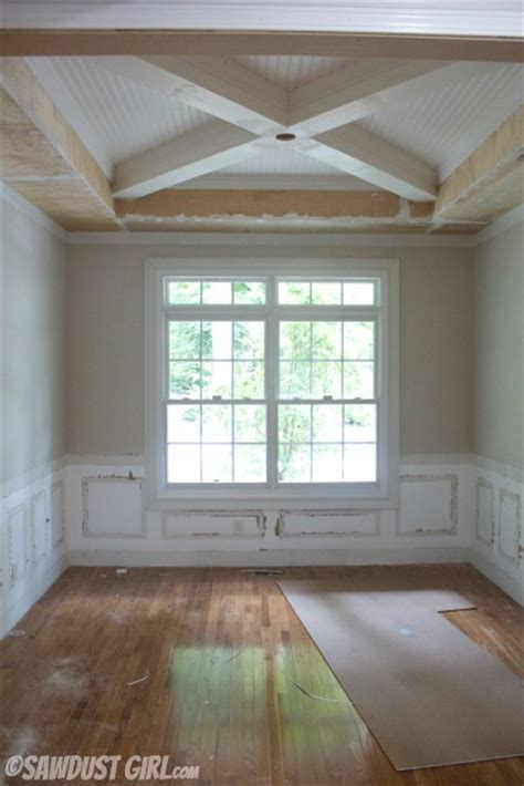 Tray Ceiling With Wood Tray Ceiling With X Beams Molding Ideas