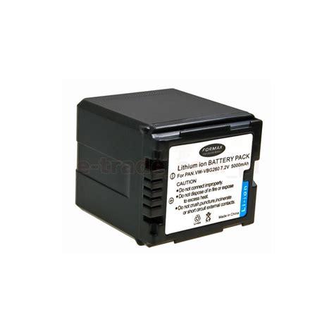 Battery Panasonic Vbg 260 replacement battery of panasonic vw vbg260 4200mah