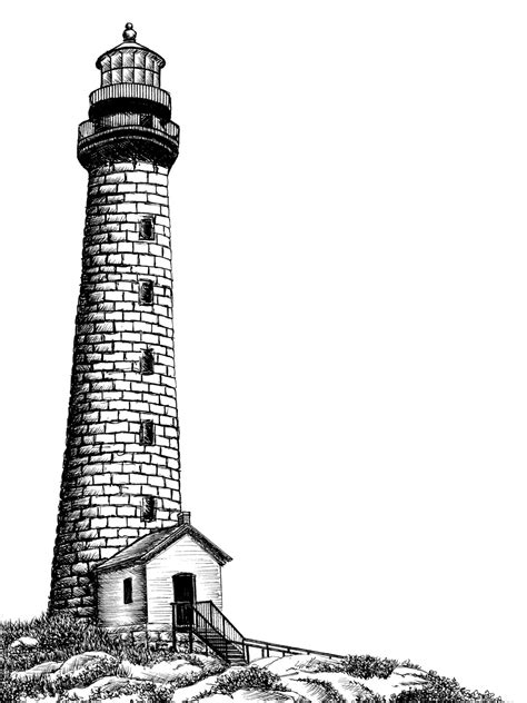 tutoriel latex head rockport lighthouse pen ink drawing by caseyrae55 on