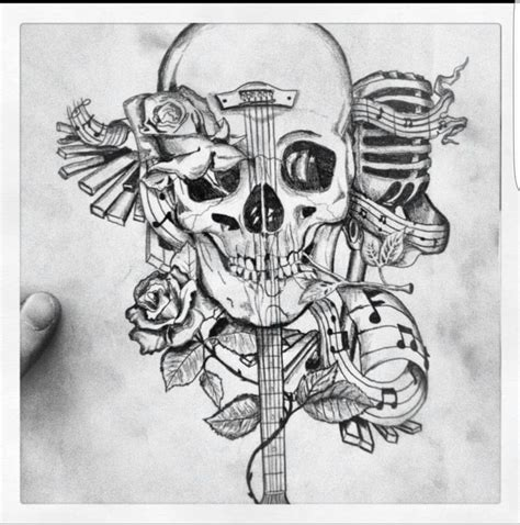 skull music tattoo designs best 10 designs ideas on