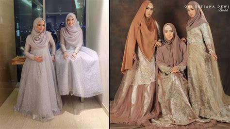 bridesmaid hijab batik gambar islami