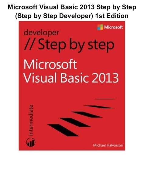 Tutorial Visual Basic 2013 Pdf | microsoft visual basic 2013 step by step step by step