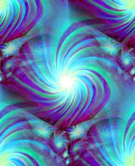blue wall decor abstract art reiki energy chakra swirl