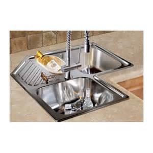 franke progresso stainless steel corner kitchen sink