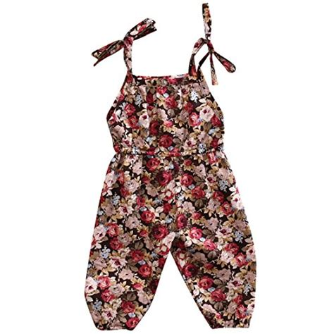 Jumper Bayi Jumpsuit Flower baby halter one pieces floral romper jumpsuit jumper clothes maxidress plus