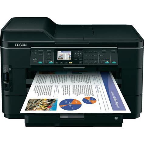 Printer Epson Scan inkjet multifunction printer epson workforce wf 7525 printer scanner copier fax lan wlan