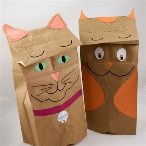 Paper Bag Cat Craft - crafts for image gallery arts crafts more by