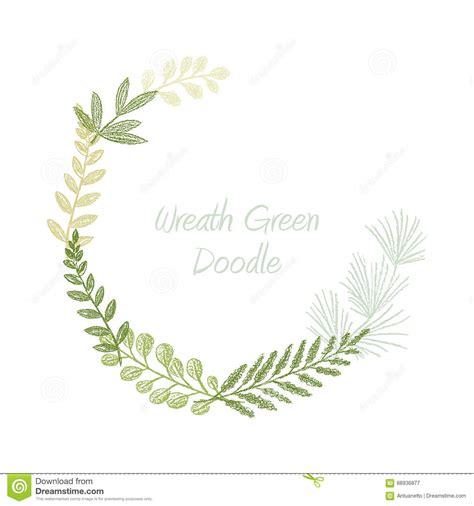 Greenery Scribble Hand Drawn Foliage Border Vector Stock Vector Illustration Of Border Leaf Border Template