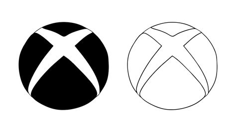 Drawing Xbox Logo by How To Draw The Xbox Logo Symbol Emblem