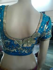 Blouse Back Neck Designs Bridal   Peach Sleeveless Blouse