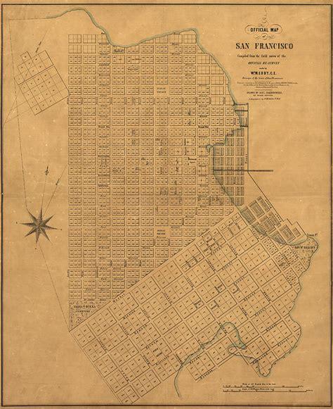 san francisco map dwg antique map of san francisco by william m eddy 1849