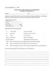 American English worksheets