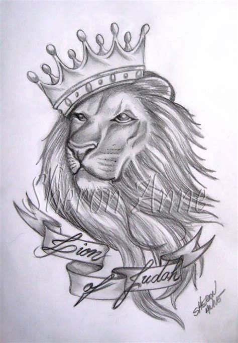 lion with crown tattoo design ideas and designs page 4